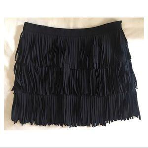 ZARA fringe mini skirt